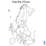template topic preview image Empty Map of Europe Outline