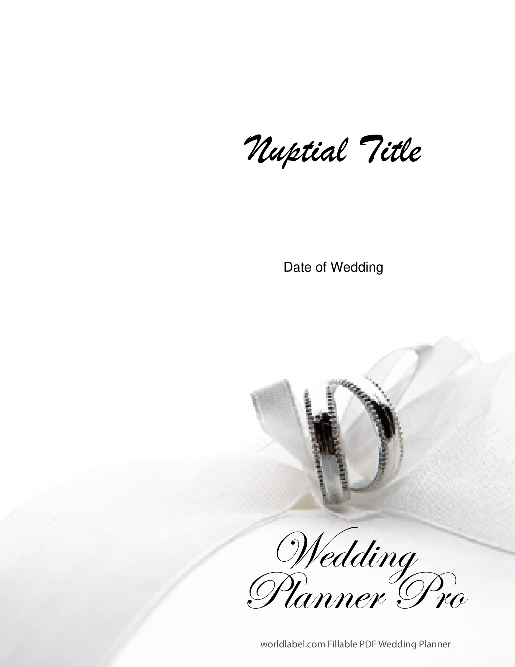 template topic preview image Professionally designed Wedding Planner