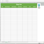 template topic preview image Mileage Log worksheet