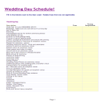 template topic preview image Wedding Itinerary Template excel spreadsheet