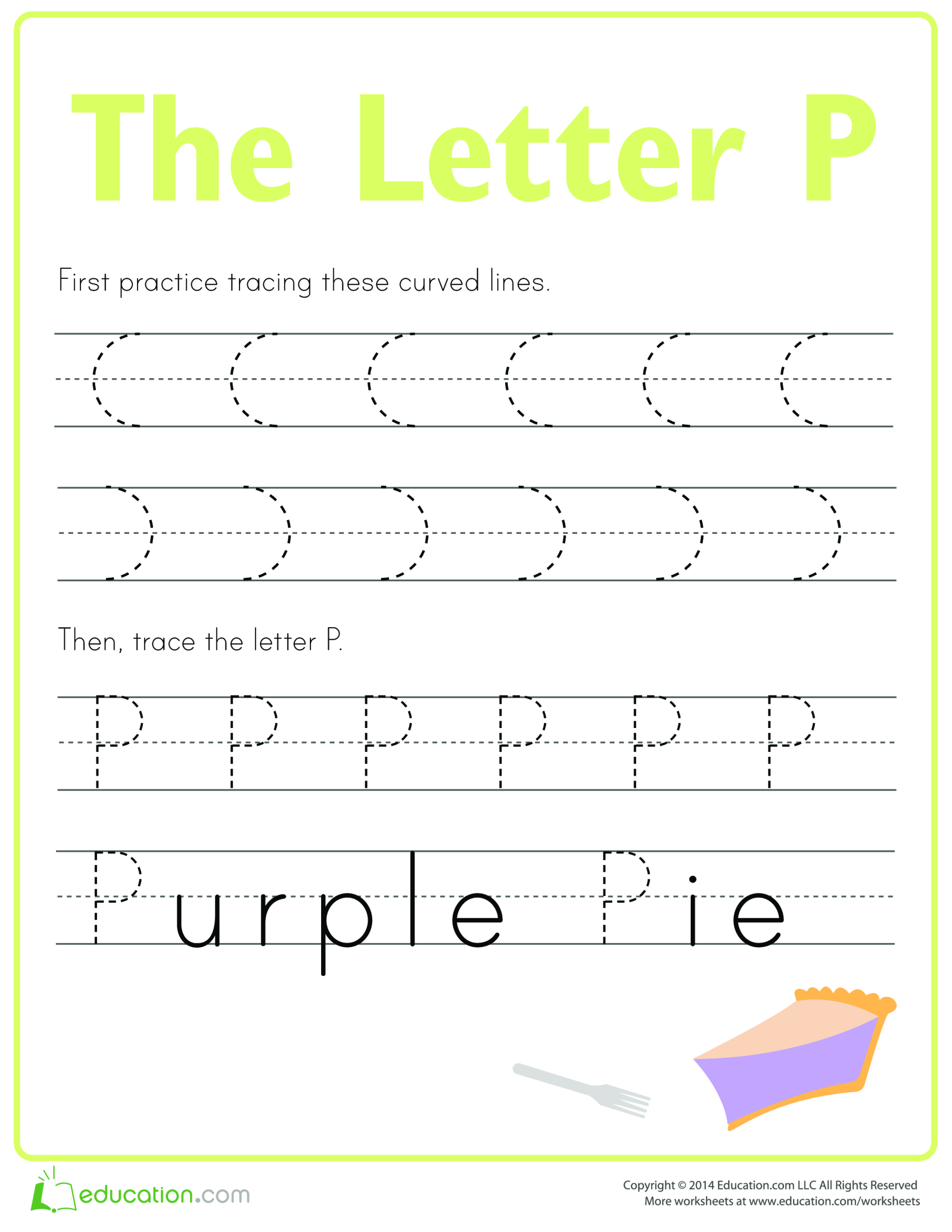 template topic preview image Learn to write letter P
