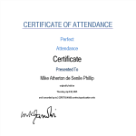template preview imageAttendance Certificate Sample