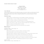 template topic preview image Academic Advisor Resume