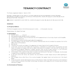 image Tenancy Agreement template