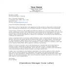 template preview imageCover Letter for Operations Manager
