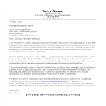 template topic preview image Police Officer Cover Letter