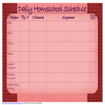 template topic preview image Homeschool Daily Schedule