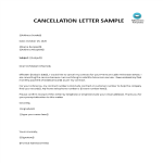 template topic preview image Cancellation letter sample