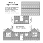 template topic preview image Printable Paper House Template