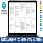 template topic preview image Scholarship Application Recommendation Letter