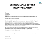 template topic preview image School Leave Letter Hospitalization