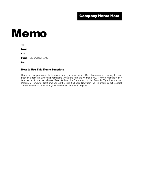 template preview imageMemo Template for Company Promotion