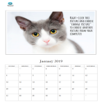 template preview imageFree Photo Calendar Template 2019