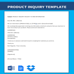template topic preview image Product Inquiry Letter