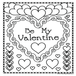 template topic preview image Printable Valentine's Day Colouring Page