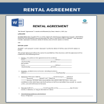 template topic preview image Sample Rental Agreement In Document