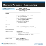 template topic preview image Accounting Student Resume