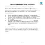 template topic preview image Individual Employment Contract
