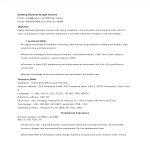 template topic preview image Banking Business Analyst Resume