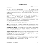 template preview imageTerms and conditions of loan agreement example