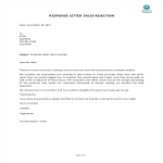 template preview imageResponse Letter Sales Rejection