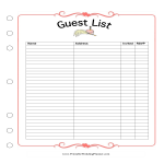template topic preview image Wedding Guest List Spreadsheet