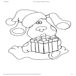 template topic preview image Printable Cartoon Christmas Coloring Page