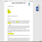 template topic preview image General Counsel Appointment Letter