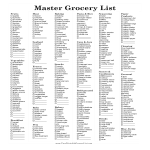 template topic preview image Printable Master Grocery List