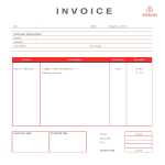 image AIRBNB Rental Invoice template