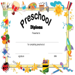template topic preview image Preschool Diploma Certificate