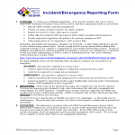 template topic preview image Emergency Management Incident Report template