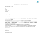 template topic preview image Resignation Letter Format template