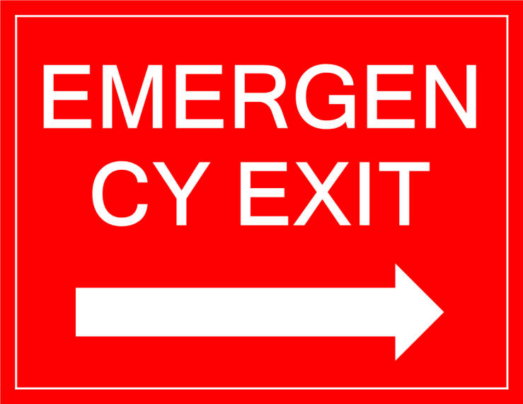 template topic preview image Emergency Exit sign arrow right