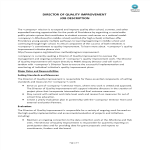 template preview imageDirector Of Quality Improvement Job Description