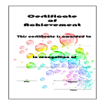 template topic preview image Certificate Of Achievement example