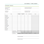 template topic preview image Simple Time sheet worksheet