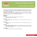 template topic preview image Activity Holiday Itinerary
