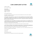 template topic preview image Car Complaint Letter Used Vehicle
