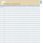 template topic preview image Wedding Guest Tracker