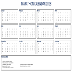 template topic preview image 2018 Marathon Calendar Excel