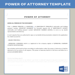 template topic preview image Power Of Attorney for Opening Bank Account