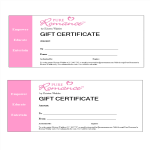template topic preview image Romance Gift Certificate Word
