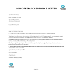 template topic preview image Job Appointment Acceptance Letter