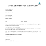 template topic preview image Letter Of Intent Employment