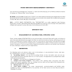 template topic preview image Food Service Management Contract