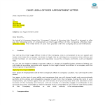 image Chief Legal Officer (CLO) Appointment Letter