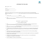 template topic preview image Affidavit  Of No Lien
