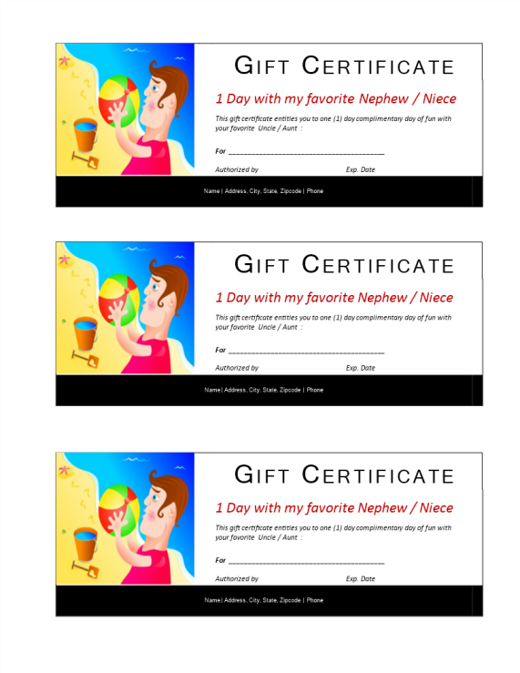 template preview imageOne Day Fun Certificate