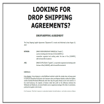 Article topic thumb image for Drop Shipping Agreement